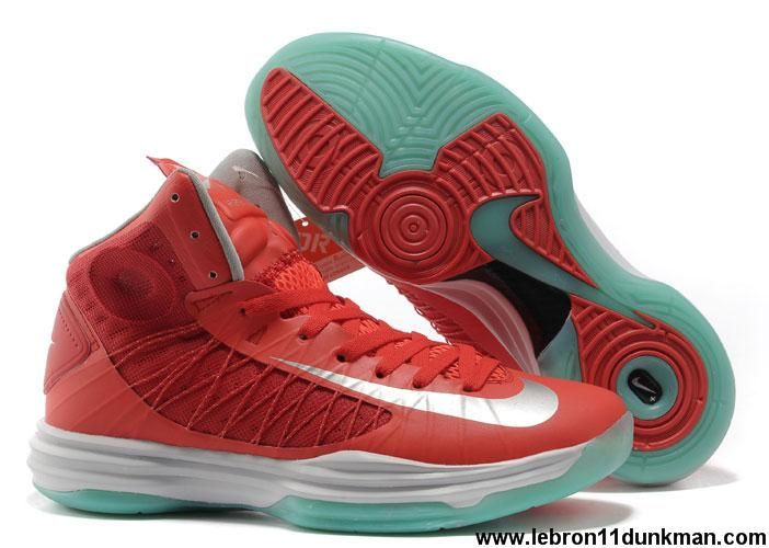 543804987217 Buy 2013 New Womens Nike Lunar Hyperdunk 2013 University Red Silver White  Jade Basketball Shoes Shop