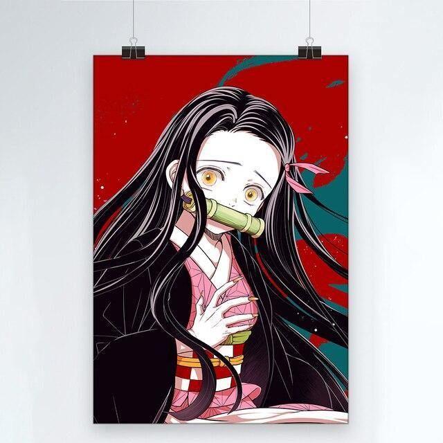 Photo of Demon Slayer Nezuko Canvas Poster – 70X120cm No Frame