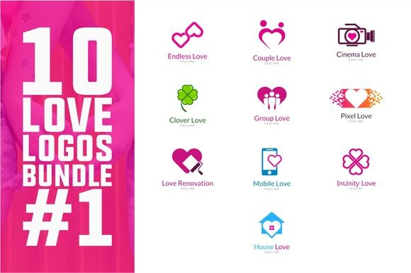 10 Love Logo Bundle #1 @creativework247