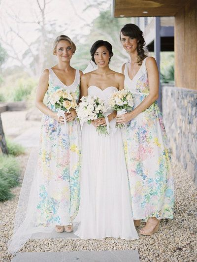 Australia Wedding From Mr Edwards Photography And Design Bridesmaid Dresses Floral Print Bridesmaid Pretty Bridesmaid Dresses