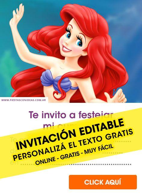 Tarjeta De Cumpleaños De Princesas De Disney En 2019