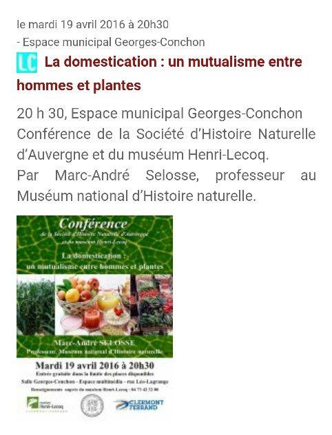 19 Avril_ 29h30_ Espace municipal Georges-Conchon