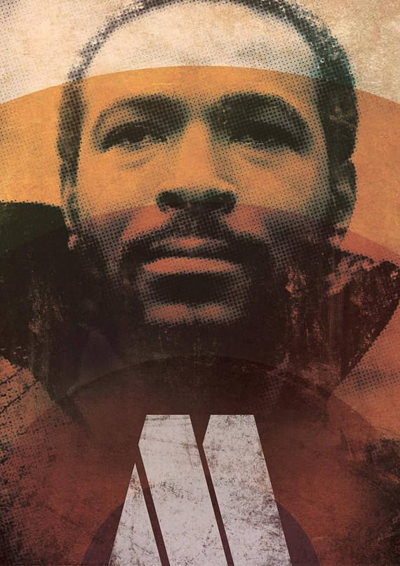 Marvin Gaye Poster Motown Icon Graphic Art Print Wall Art Etsy Art Etsy Wall Art Graphic Art Print