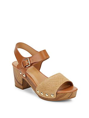 7ede40843 Nine West Clueless Wooden-Platform Clog Sandals - Black - Size 6 ...