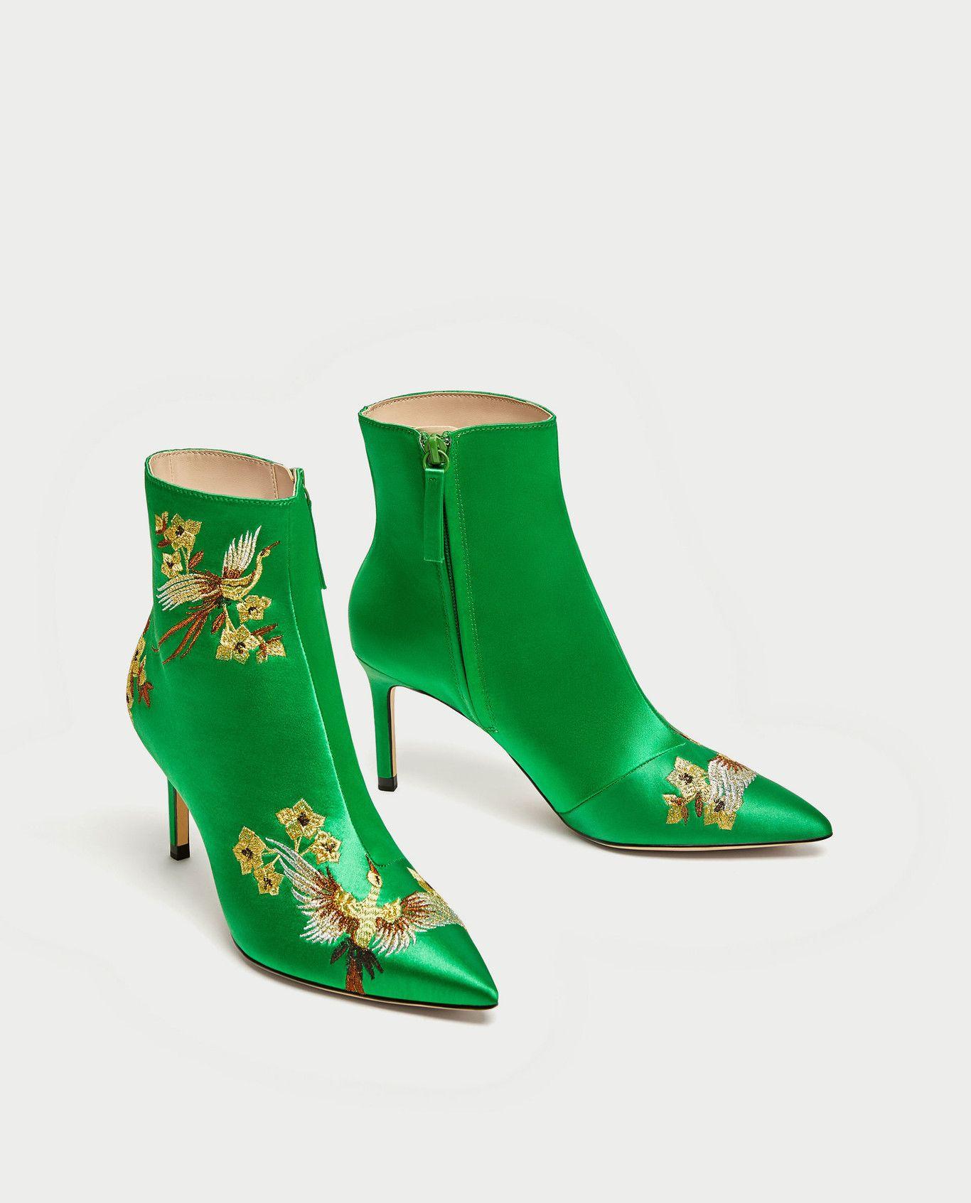 Verdes Bailarinas Ballet De Botas 6065201030 2 Zara Sandalias 3 Zapatos 1 BU0gqS