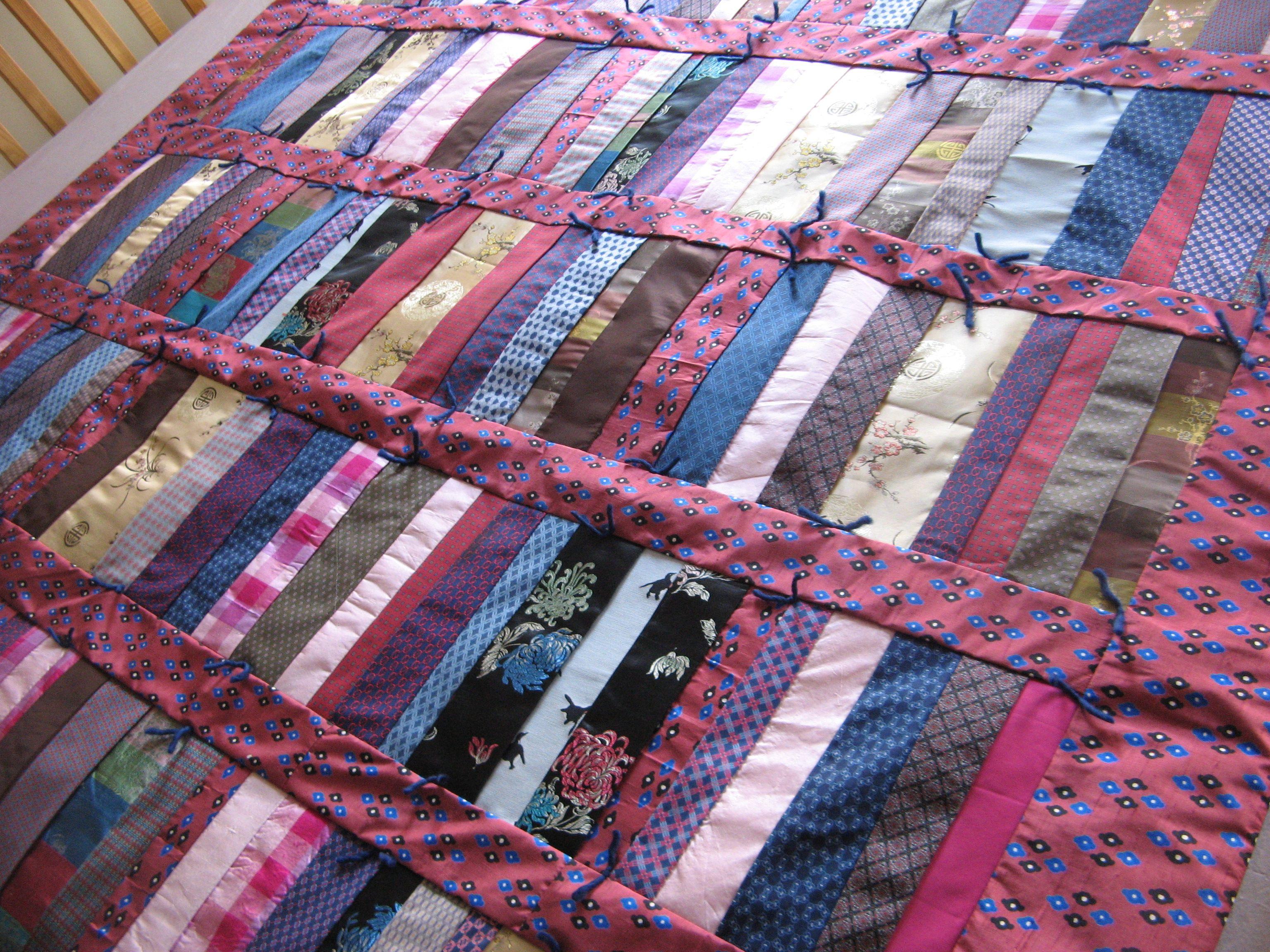 Hand Tied Hermes Tie Quilt Quilts Pinterest