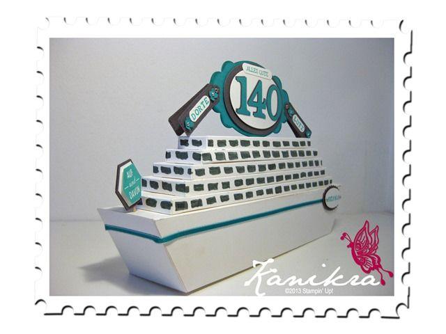 schiff aus papier stampin up nostalgische etiketten bermudablau f r die reise reisefieber. Black Bedroom Furniture Sets. Home Design Ideas