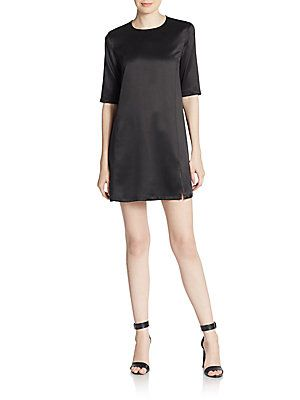c4c907813b18 Equipment Jules Silk Shift Dress - True Black - Size L
