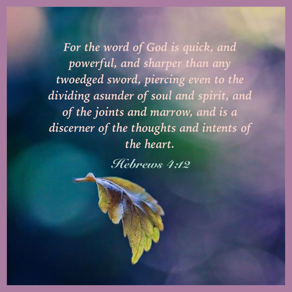 Hebrews 4:12  | Scripture quotes, Inspirational verses, King james bible