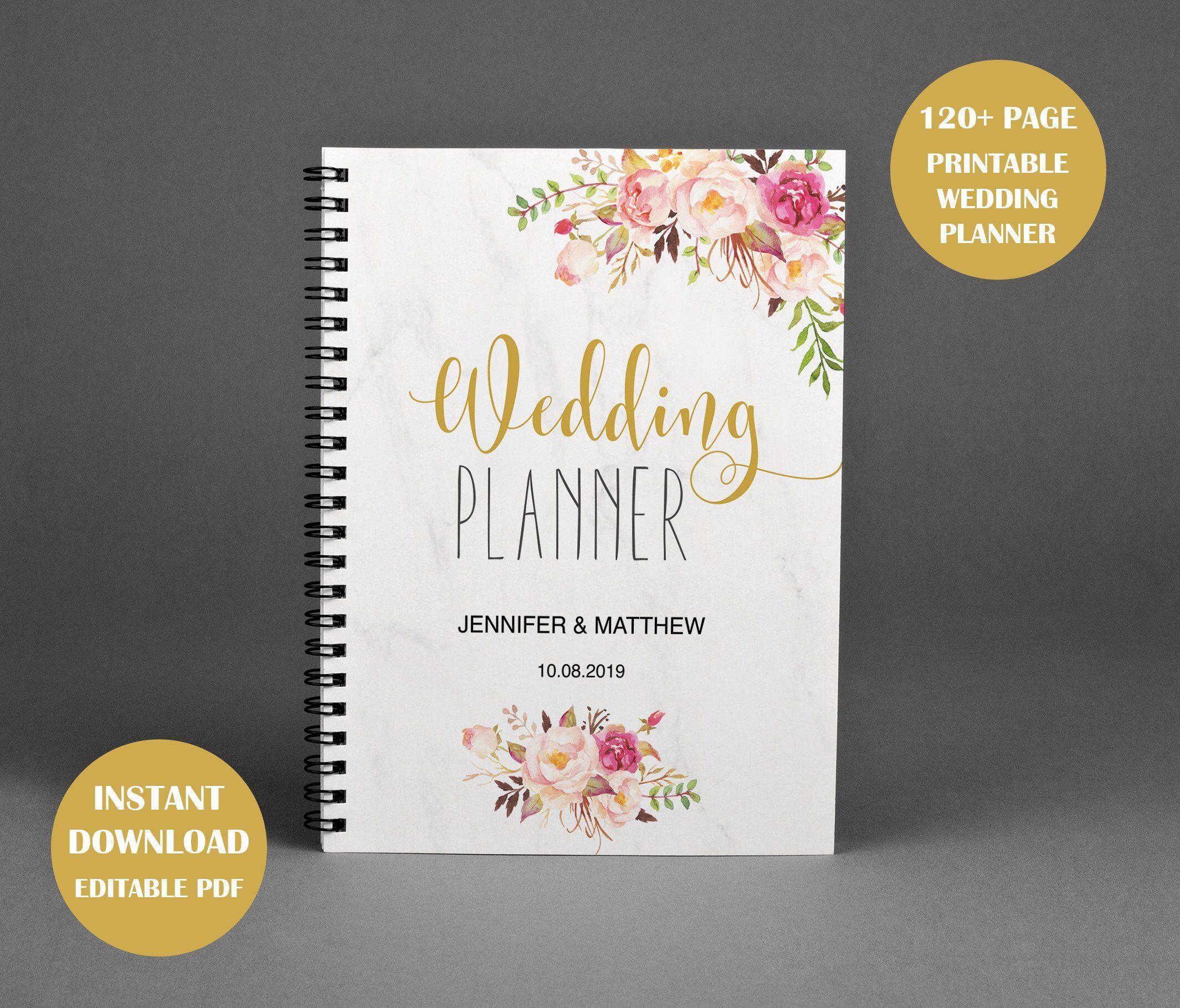 Wedding Planner Wedding Planning Book Printable Wedding