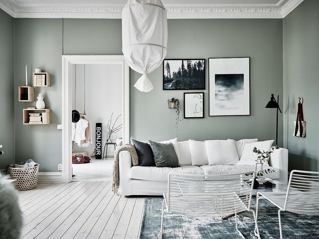 Wandfarbe Arbeitszimmer ~ 5 minimalist spaces with green walls the edit wandfarbe