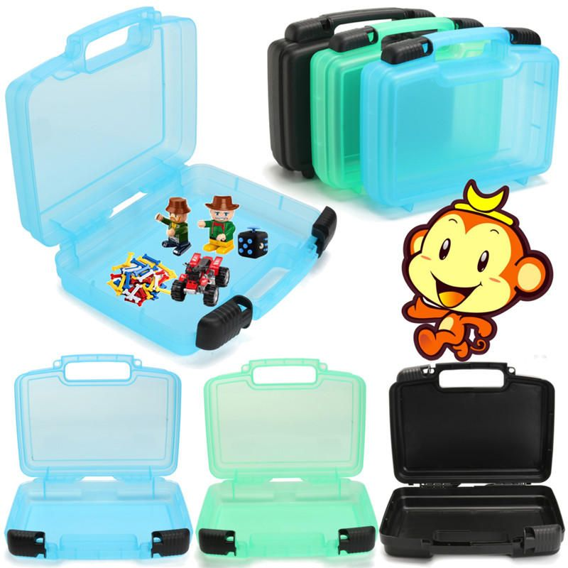 Plastic Finger Animal Pets Storage Box Portable Suitcase Travel Luggage Toys Organizer Case Tools