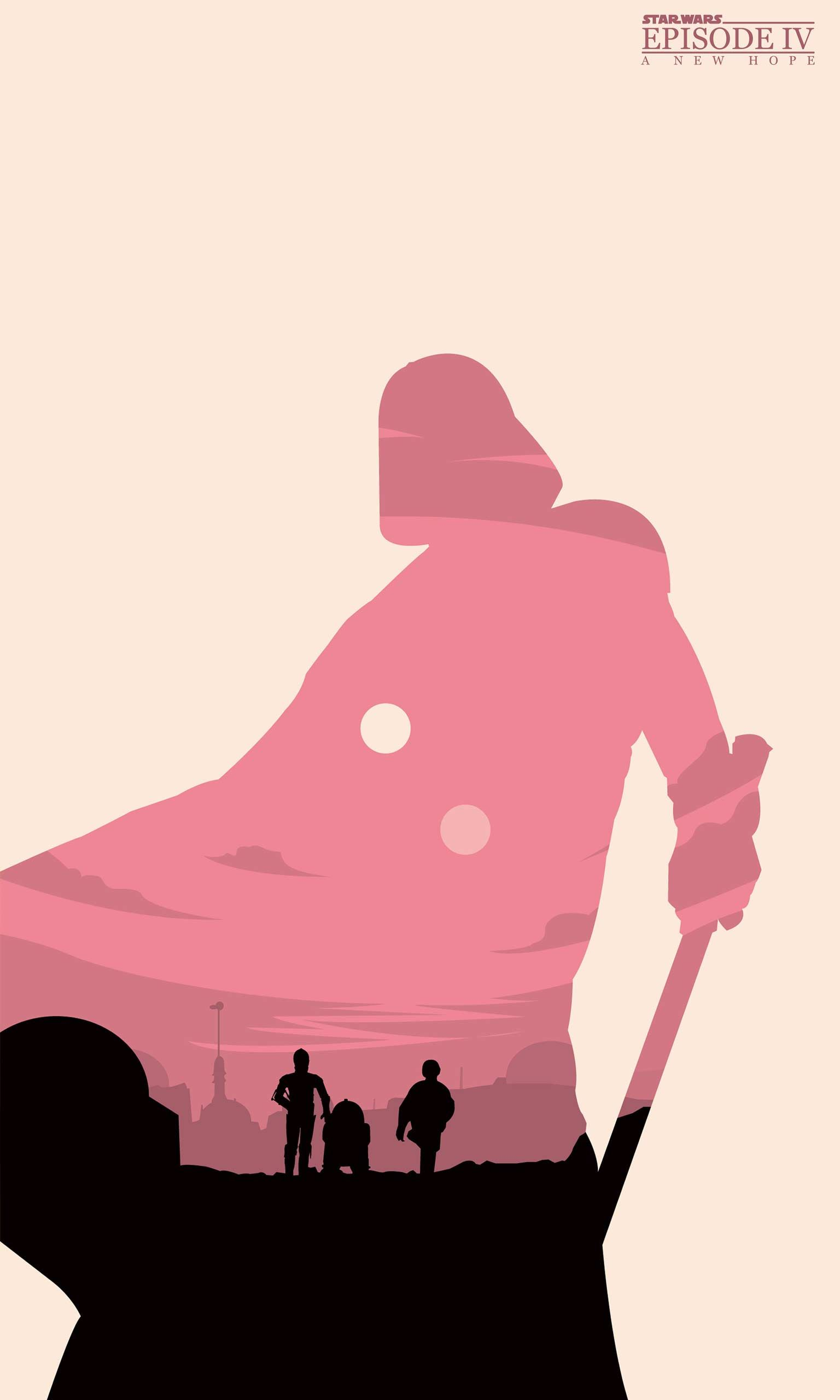 Star Wars A New Hope Mobile Wallpaper Minimalist 1536x2560 Jpg 1536 2560 Star Wars Art Star Wars Poster Star Wars Wallpaper Iphone