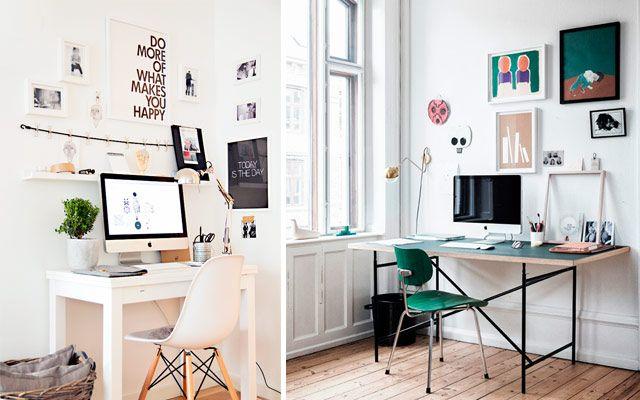 Decofilia blog ideas low cost para decorar la pared del for Escritorio low cost
