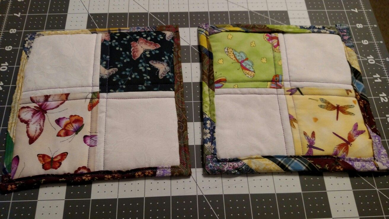 Front of Quilted Pot Holders for Mother in Law