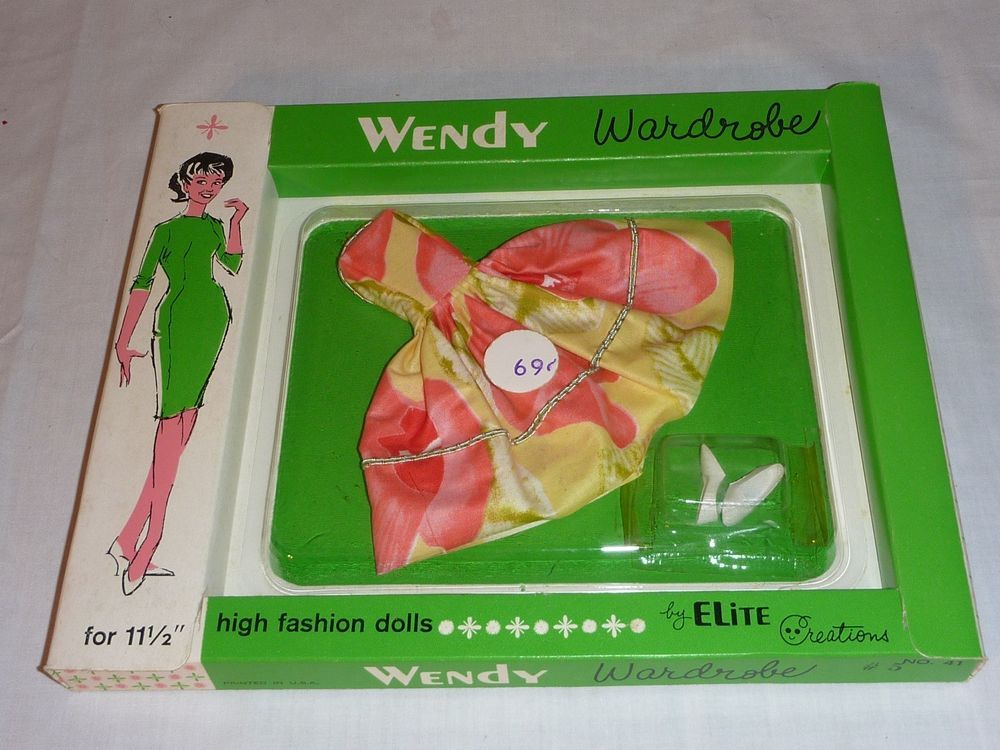 VINTAGE 60s WENDY DOLL WARDROBE DRESS ELITE CREATIONS SERIES