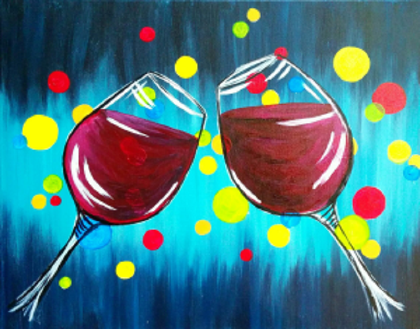 Wine and painting des moines