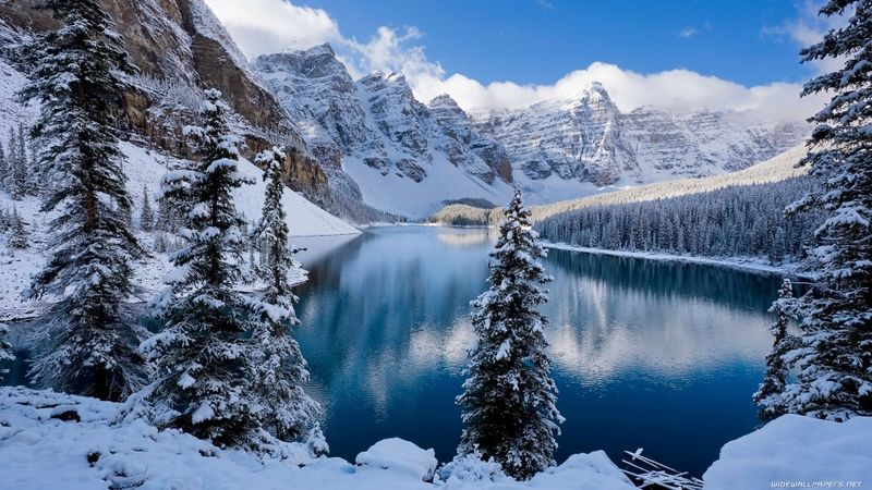 National Geographic Winter Snow National Parks Lake Landscape Moraine Lake Canada