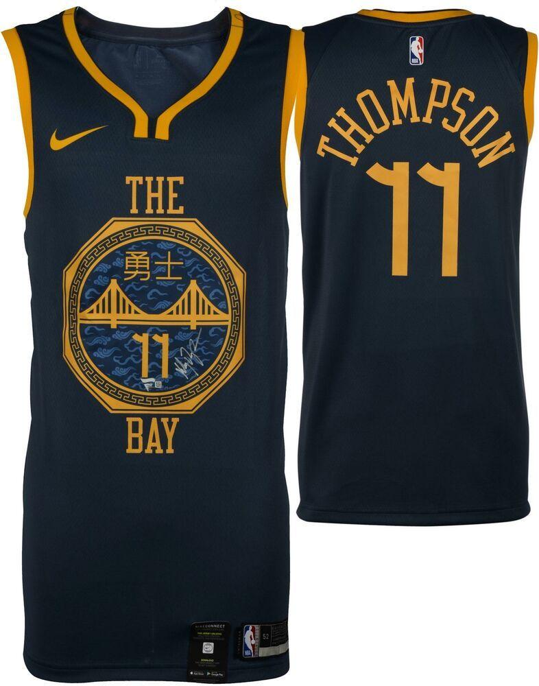 size 40 7b3e0 f61b8 Autographed Klay Thompson Warriors Jersey Fanatics Authentic ...