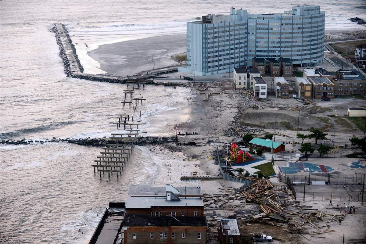 The Boardwalk And Waterfront Properties Sustain Heavy Damaged After Hurricane Sandy In Atlantic City N J On Wedne Aerial View Atlantic City Hurricane Sandy