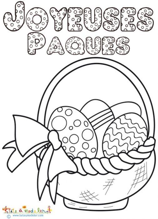 Related Image éducation Coloriage Paques Dessin Pâques