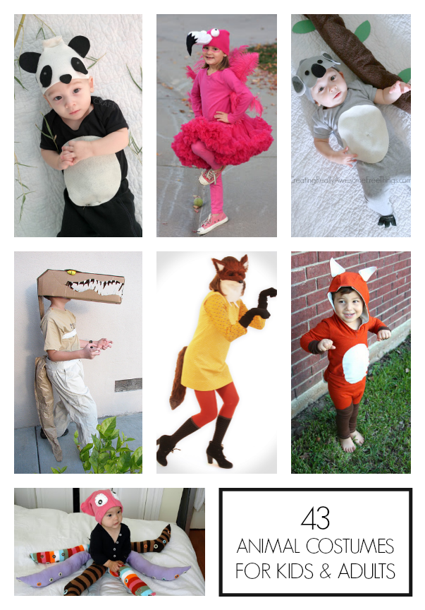 37 Homemade Animal Costumes Animal costumes for kids