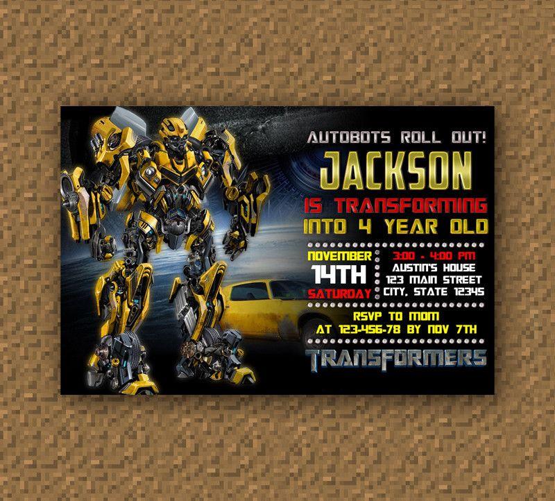 Pin Transformers Birthday Card By Silverwolf05 Cake On Pinterest Transformers Bumblebee Transformers Convite