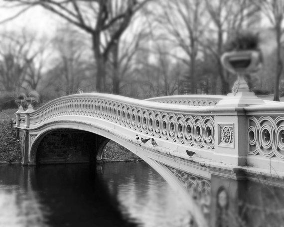 central park bow bridge new york wall art black and white photography nyc new york city art. Black Bedroom Furniture Sets. Home Design Ideas