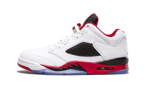 e14087092e7 NEW Nike Air Jordan V 5 Retro Low White Fire Red OG Shoes 819171-101 ...