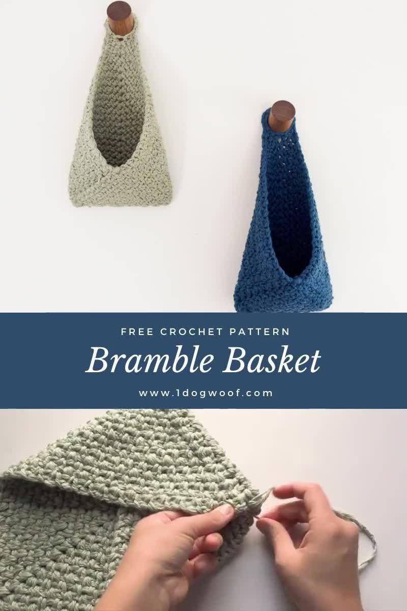 DIY Hanging Storage Idea: Free Crochet Pattern!