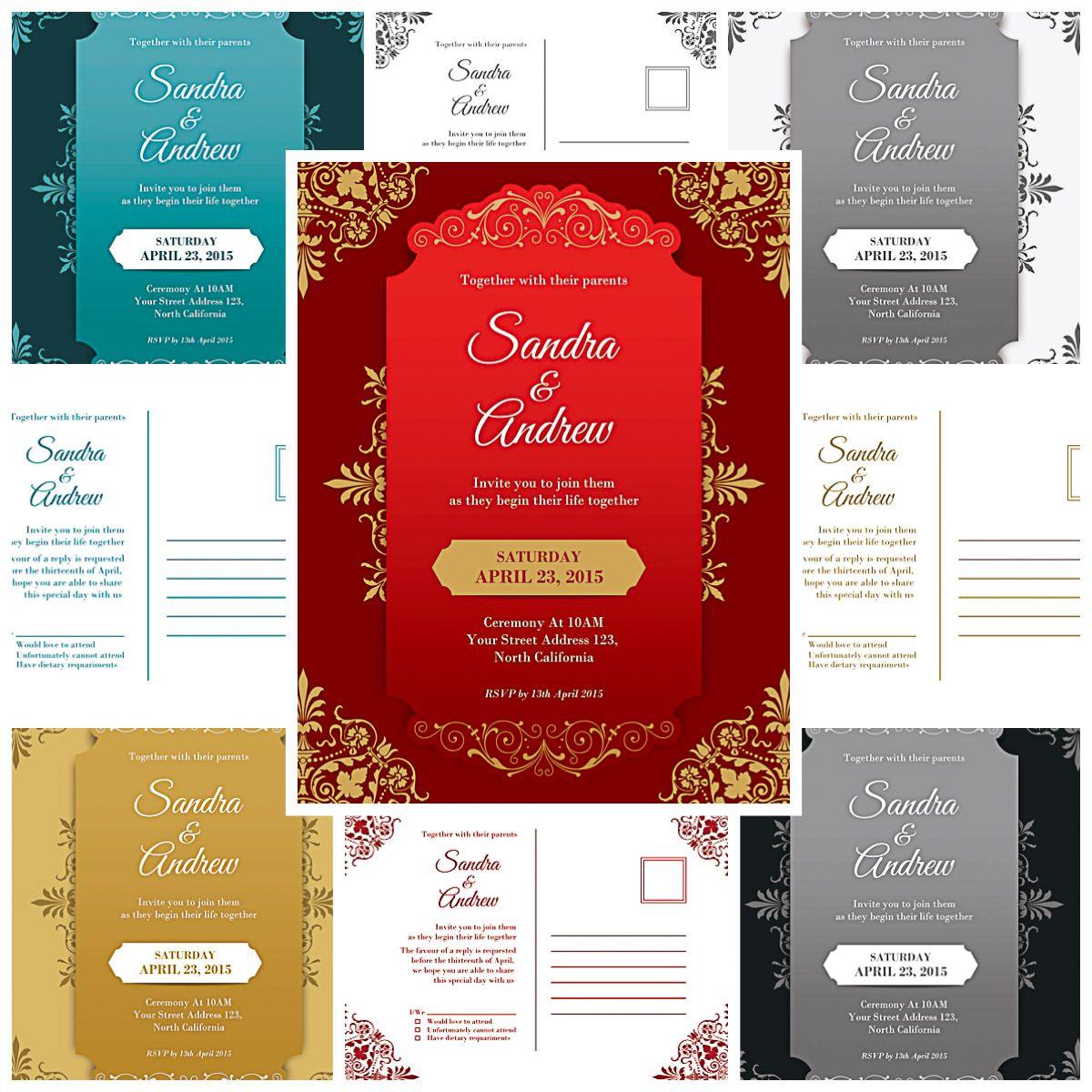 Elegant wedding invitations ornate collection | Mock-Ups, Lightroom ...