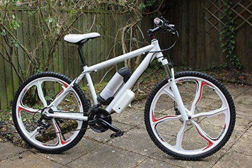 New 26 Aluminium Alloy Mag Wheel Electric Bike Powered By Samsung Battery White Electric Bike Bicycles Electric Bike Electric Bikes For Sale