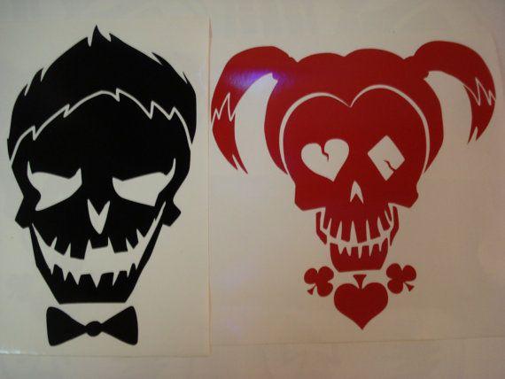 Large Joker Amp Harley Quinn Suicide Squad Skull By