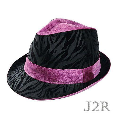 Leopard Fedora Hats for Men Women Animal Print Felt Trilby Hat Size 7 3 8 7  3 4  J2R  FedoraTrilby 0c34588b993