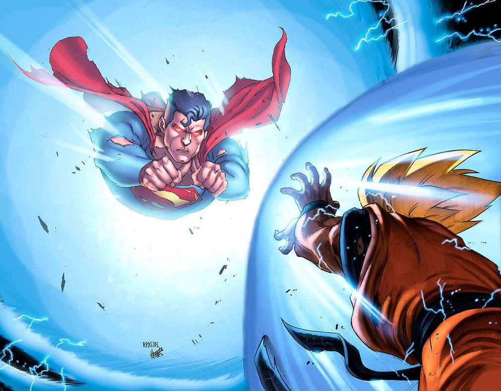 Superman Vs Goku Colors Low By Heagsta On Deviantart Dragonball