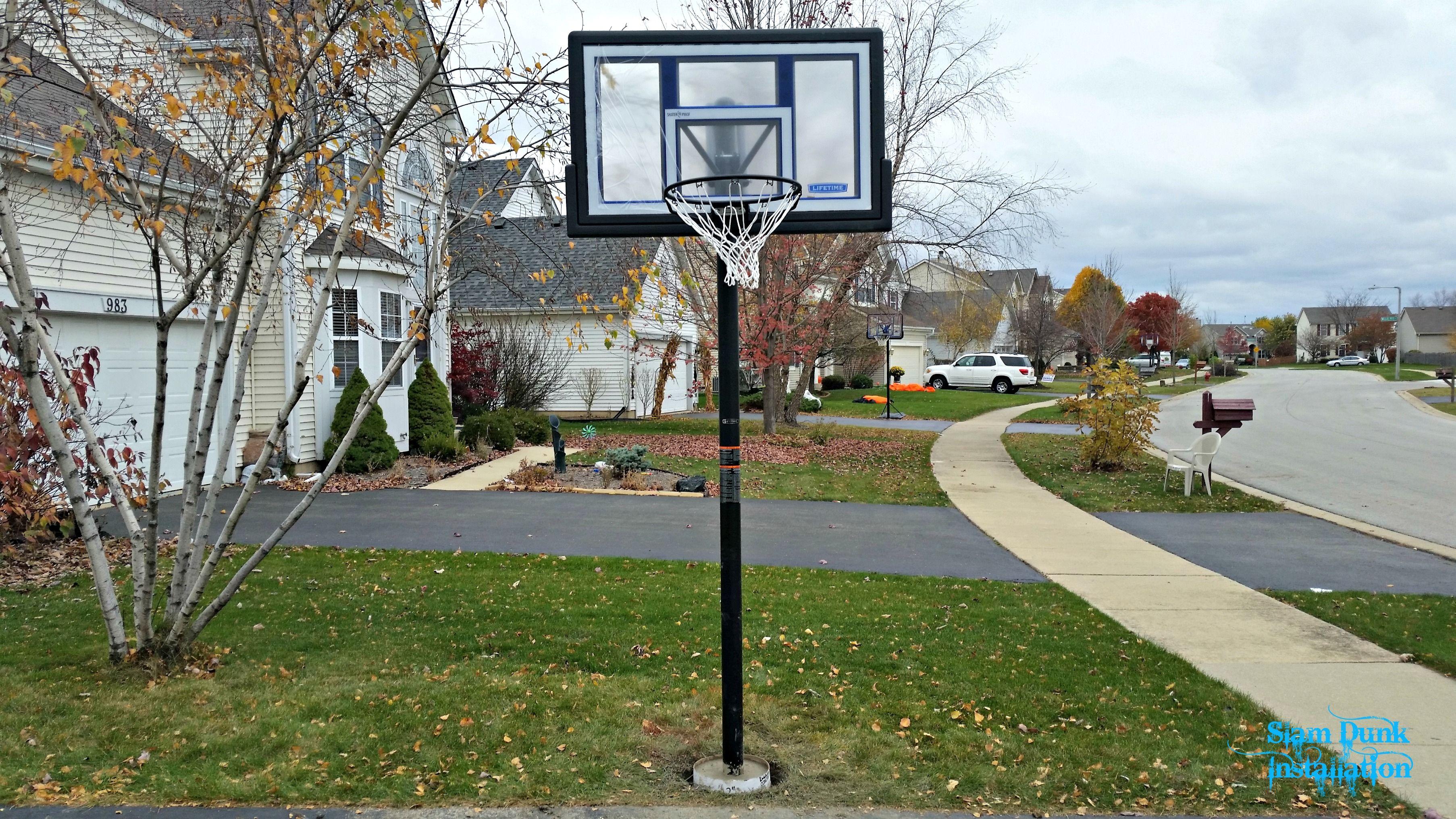 Lifetime inground basketball hoop basketball hoop driveway