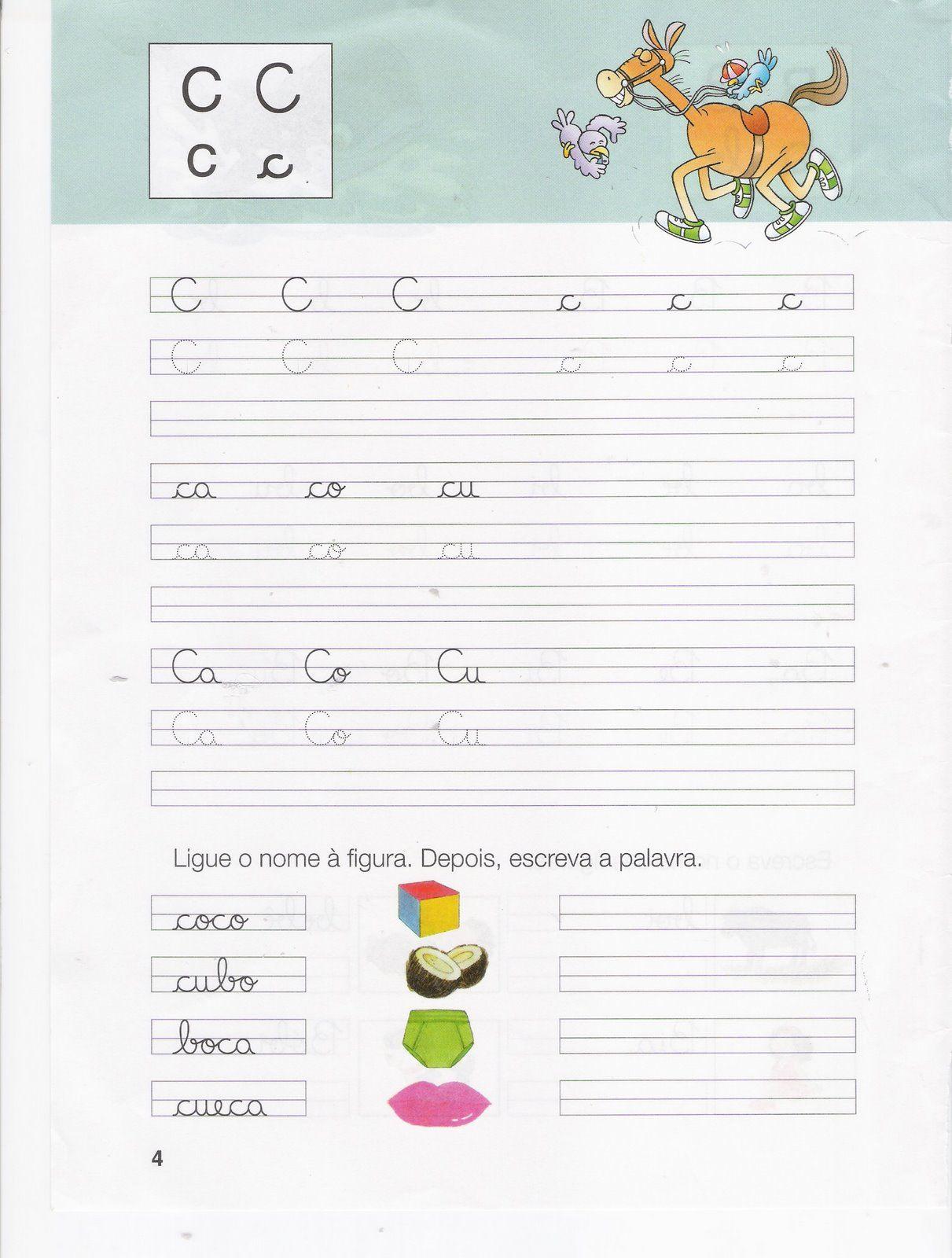 Fichas de caligrafia: Letras B, C, D, - Atividades Educativas | Neid