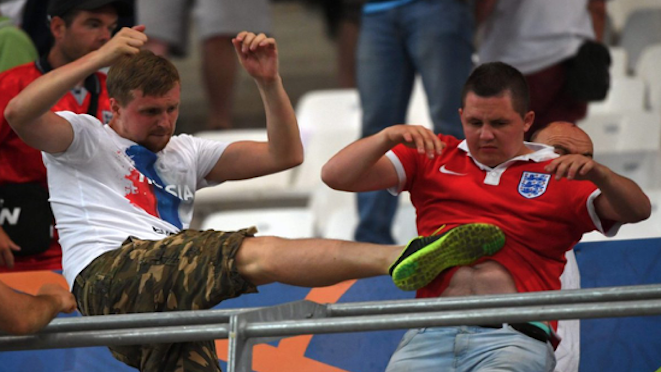 """Russian politician and Board member of the Russian FA, Igor Lebedev, has proposed legalising football hooliganism and turning it into a sport. Russian hooligans last month declared that English fans will be """"100% guaranteed"""" to be targeted at next year's World Cup. 06.03.17"""