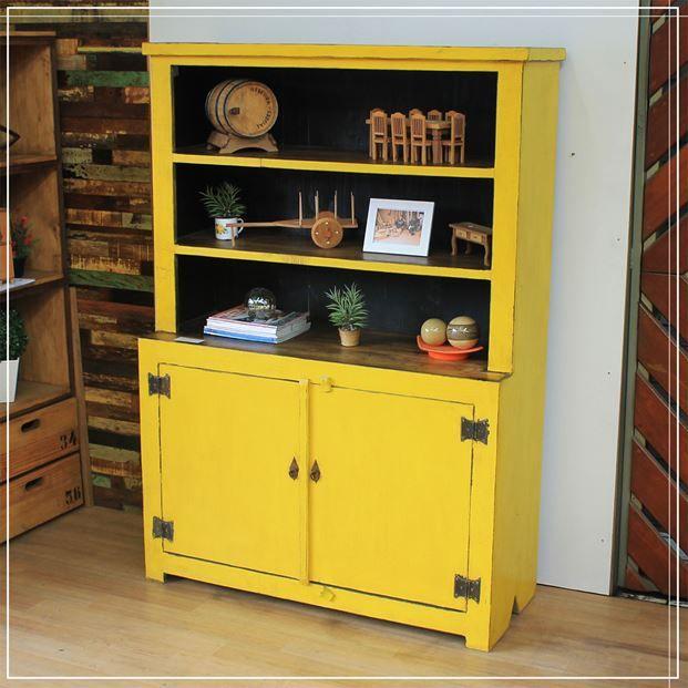 Armario Copa Amarelo 2 Portas 130m Armario De Cozinha Madeira