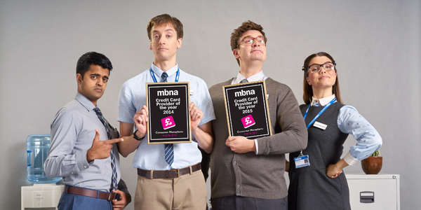 Loving this still of the 'payment ninjas' from MBNA's recent advert - very proud of their #CMFAwards!