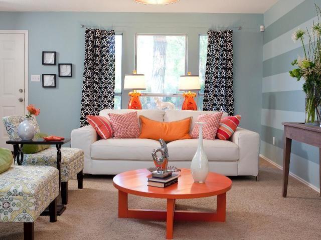 Dekoratives Kissen Für Wohn Erweiterung #Wohnzimmer Wohnzimmer   Orange  Wand Wohnzimmer