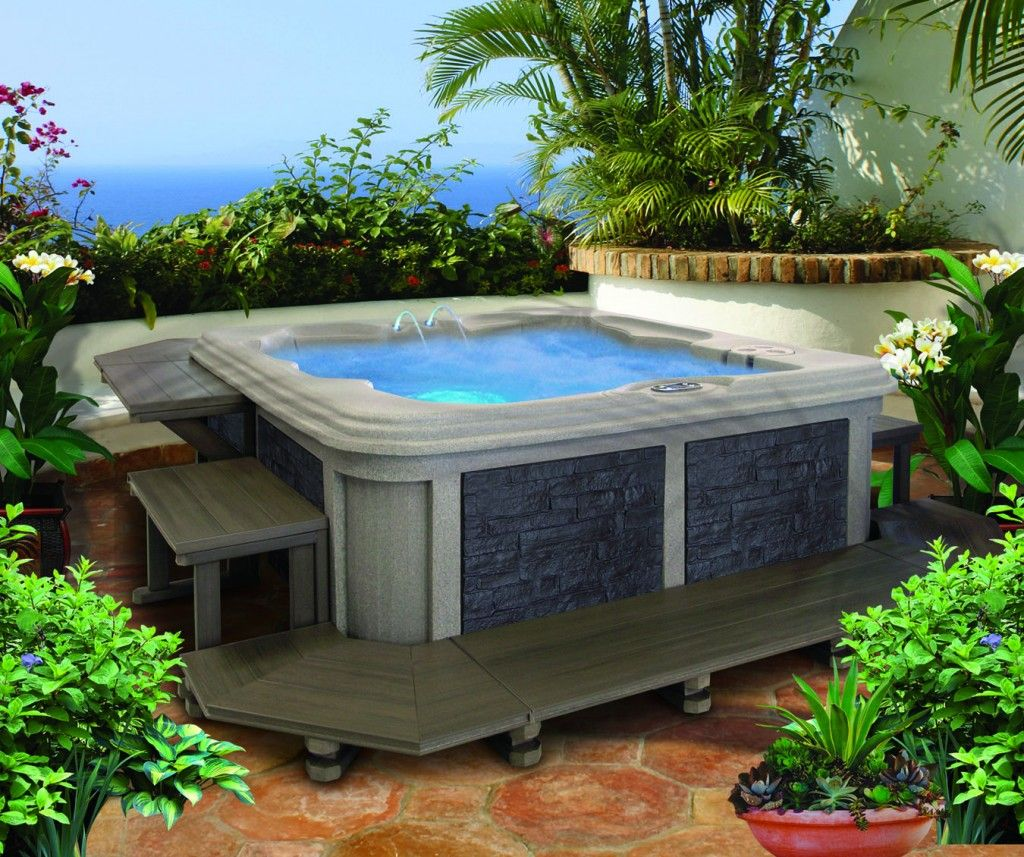 Turn your genesis rotomold spa into a relaxing for Pool design 974