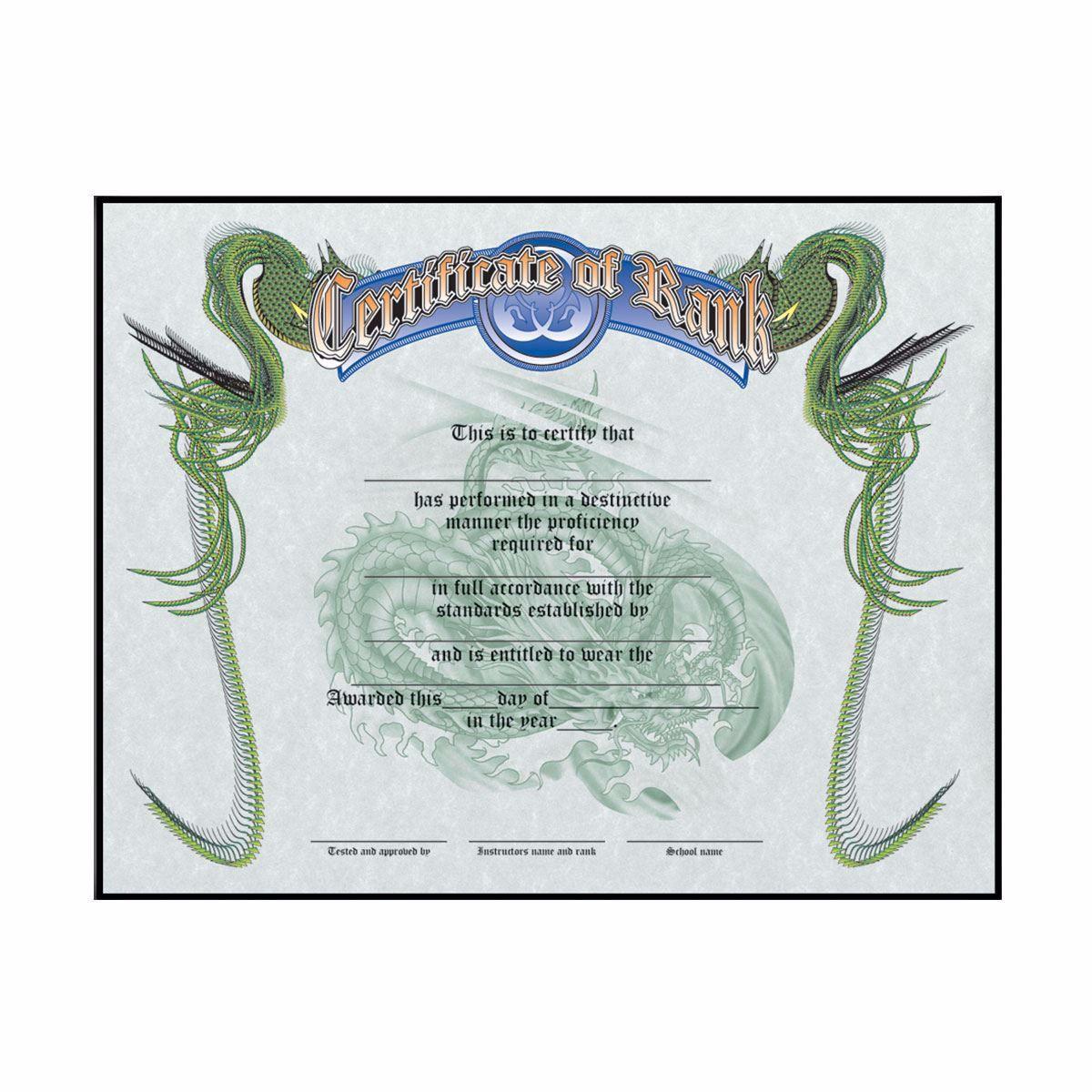 Pack of 5 TaeKwonDo /& Karate Rank Certificates Martial Arts Certificates