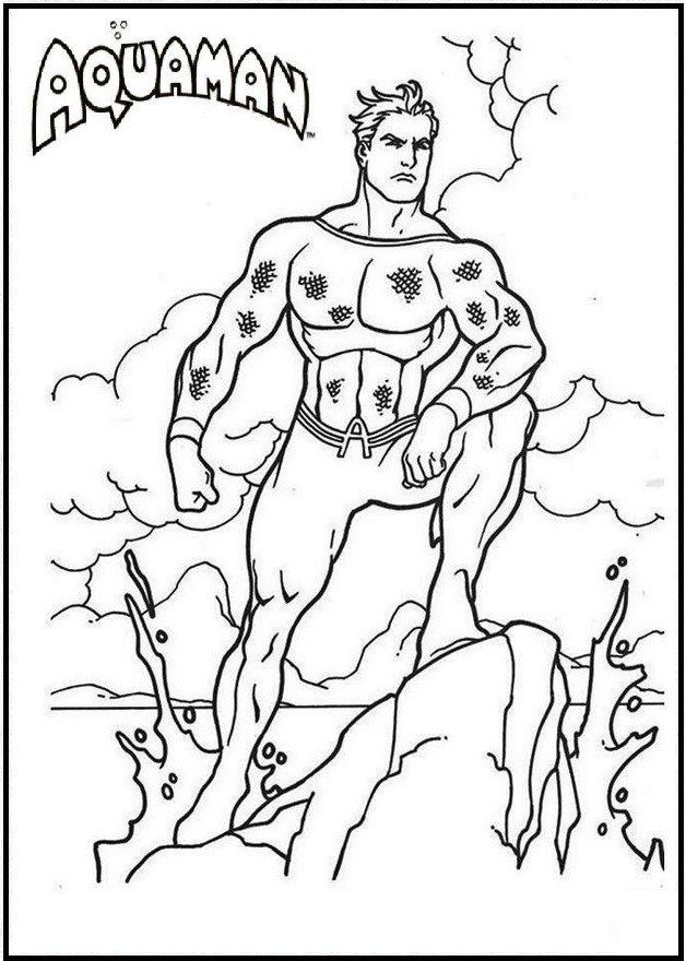 aquaman comic books coloring page - Aquaman Coloring Pages