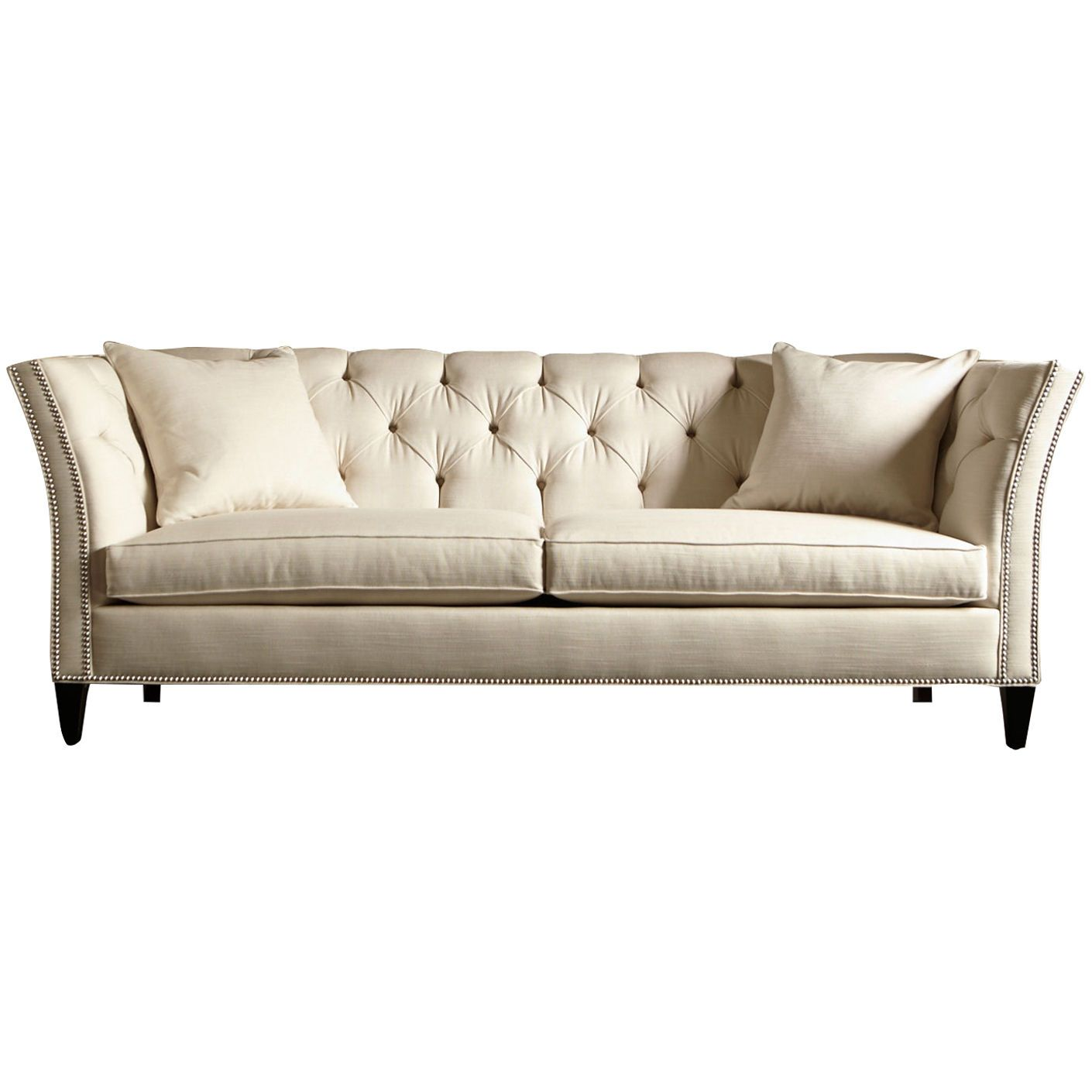 This Shelton Sofa shown in Springer White from Ethan Allen is