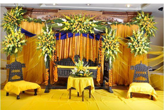Mehndi Flower Arrangements : Latest mehndi stage flowers decoration ideas aacc wedding