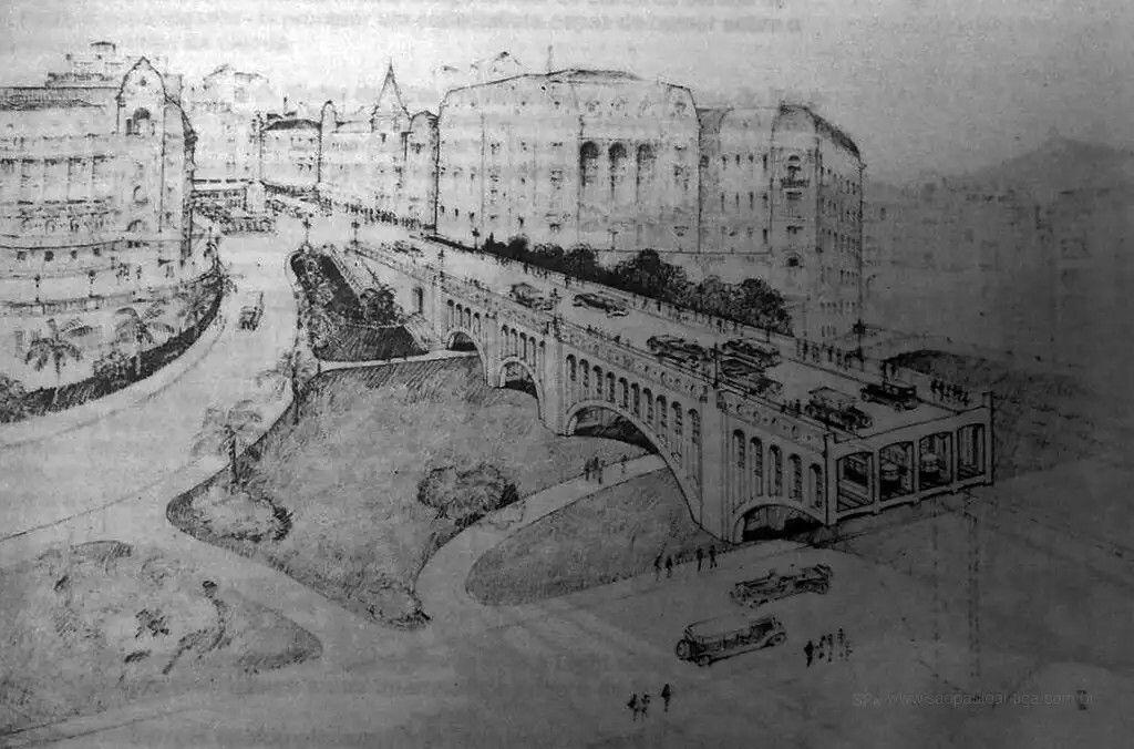 Projeto metrô em 1926
