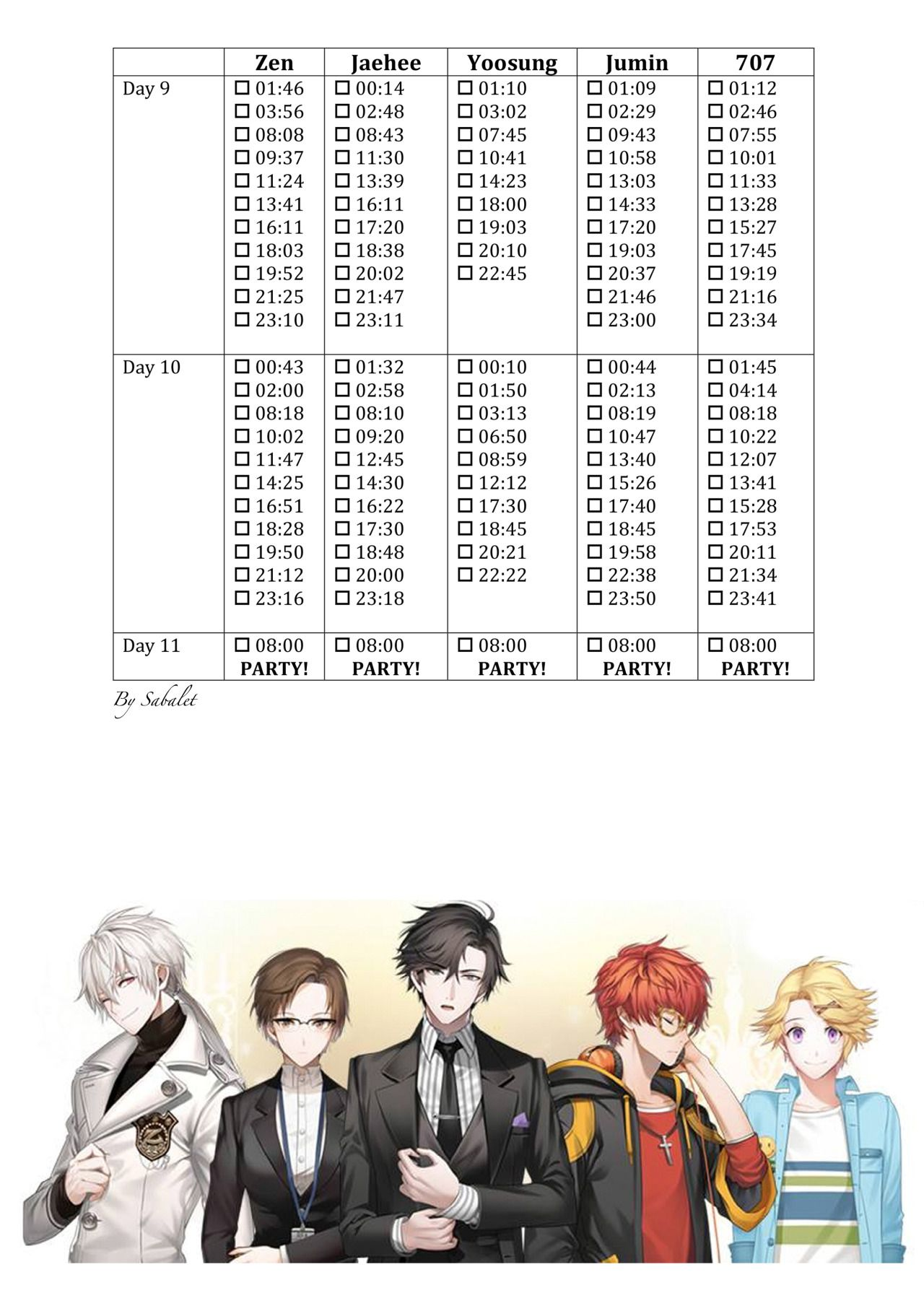 Image result for mystic messenger chat schedule