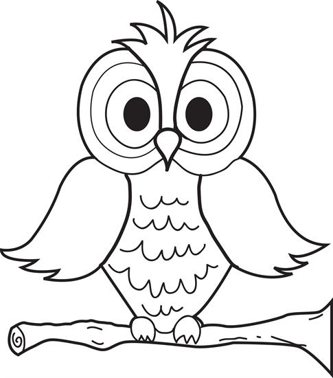 Printable Coloring Owl
