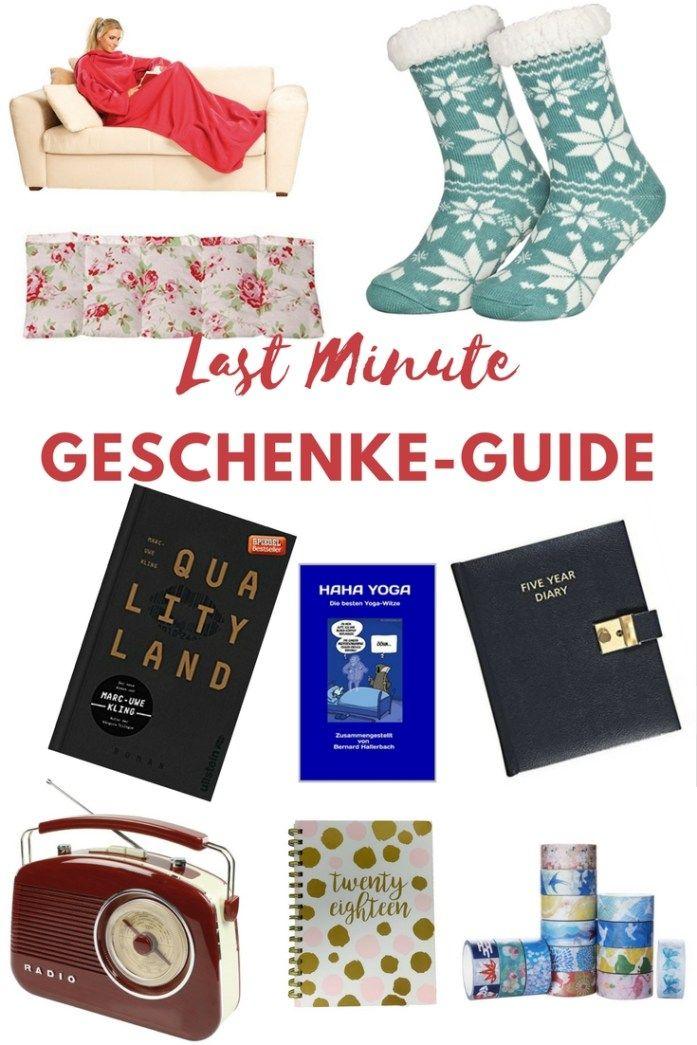 Last Minute Geschenke-Guide für jeden Geschmack | Written In Red ...